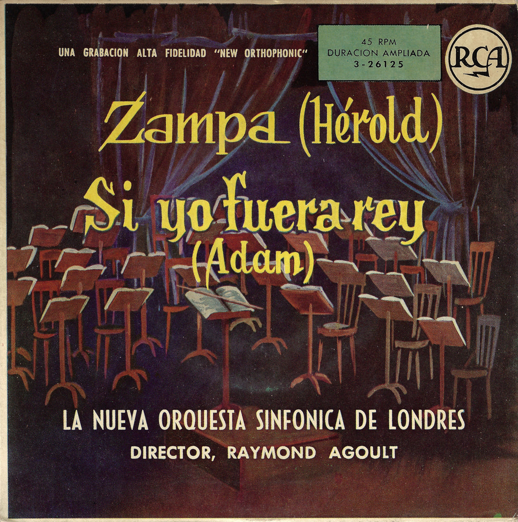 "Agoult: Hérold Zampa Overture + Adam - RCA 3-26125 (7"" EP)"