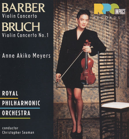 Akiko Meyers: Barber Violin Concerto + Bruch No. 1 - RPO Records CDRPO 5002