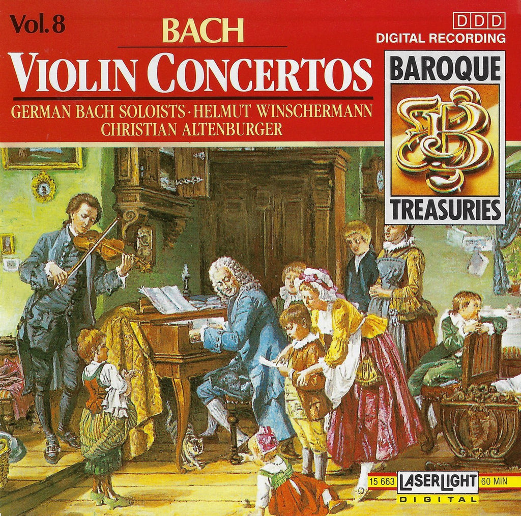 Altenburger: Bach Violin Concertos BWV 1041-43, etc. - Laser Light 15 663