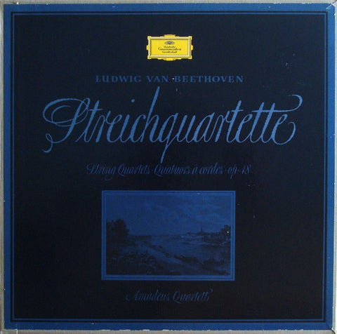 LP - Amadeus Quartet: Beethoven String Quartets Op. 18 / 1-6 - DG LPM 18531/33 (3LP Box)