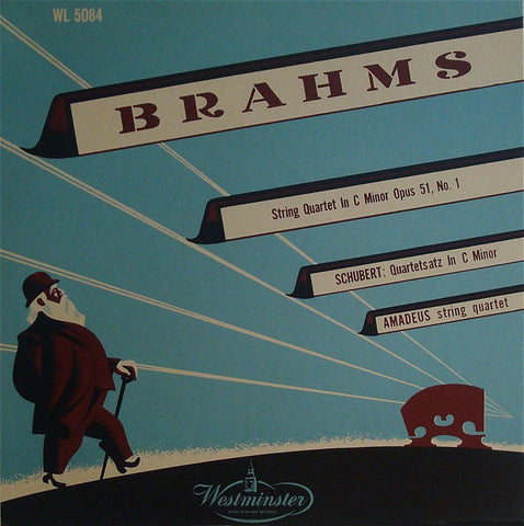 LP - Amadeus Quartet: Brahms SQ Op. 51/1 + Schubert - Westminster Japan G-10512