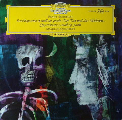 "LP - Amadeus Quartet: Schubert ""Death & The Maiden"" - DG SLPM 138 048"