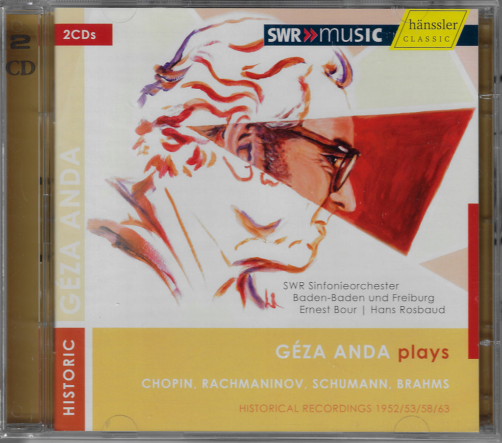 "Géza Anda: 4 Piano Concertos (""live"") - Hänssler 93.706 (2CD set, sealed)"
