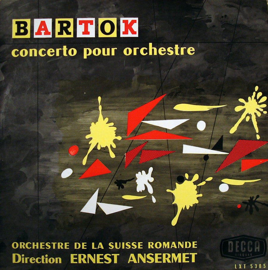 LP - Ansermet: Bartok Concerto For Orchestra - French Decca LXT 5305