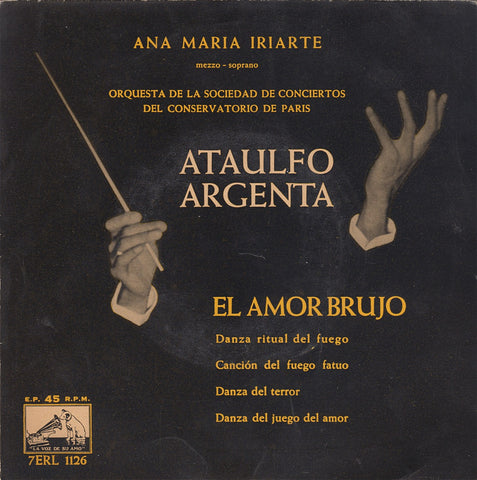 "EP (7"" 45 Rpm) - Argenta: Dances From El Amor Brujo - HMV 7ERL 1126 (7"" 45 Rpm EP)"