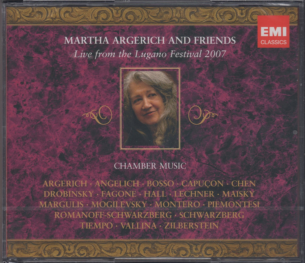 CD - Argerich & Friends: Lugano 2007 (Chamber Music) - EMI 5 18333 2 (3CD Set, Sealed)