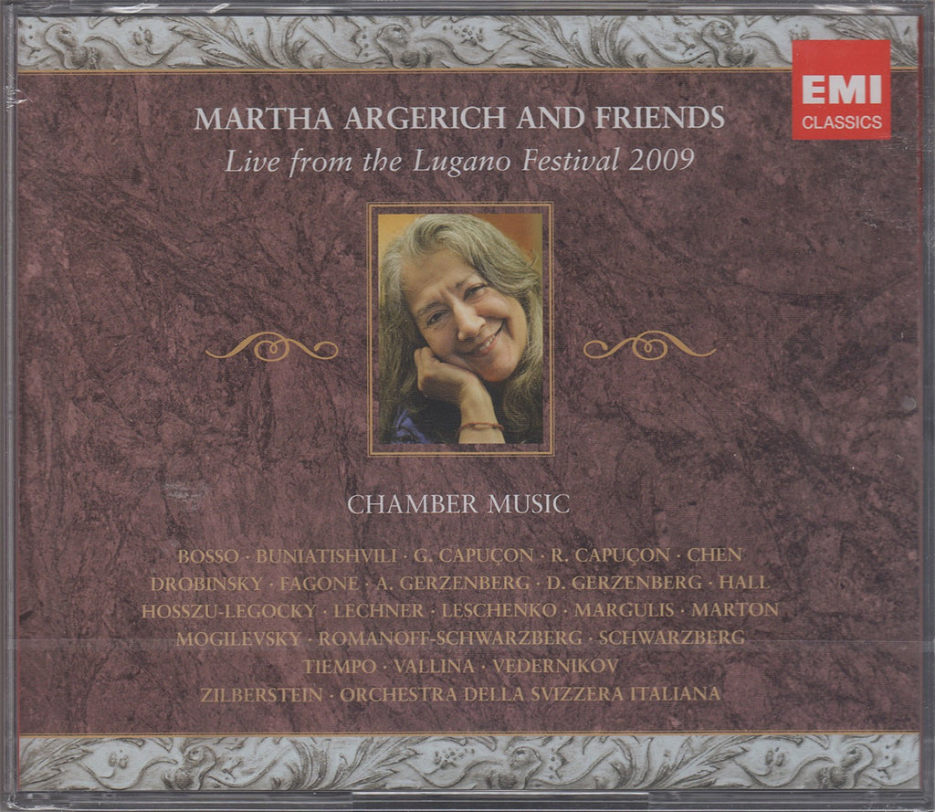 CD - Argerich & Friends: Lugano, 2009 - EMI 6 07367 2 (3CD Set, Sealed)