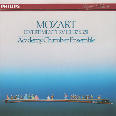 CD - ASMF: Mozart Divertimenti K. 113, 137 & 251 - Philips 420 181-2 (DDD)