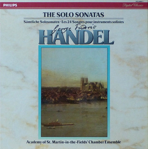 ASMF Chamber Ensemble: Handel 24 Solo Sonatas - Philips 412 444-1 (5LP box)