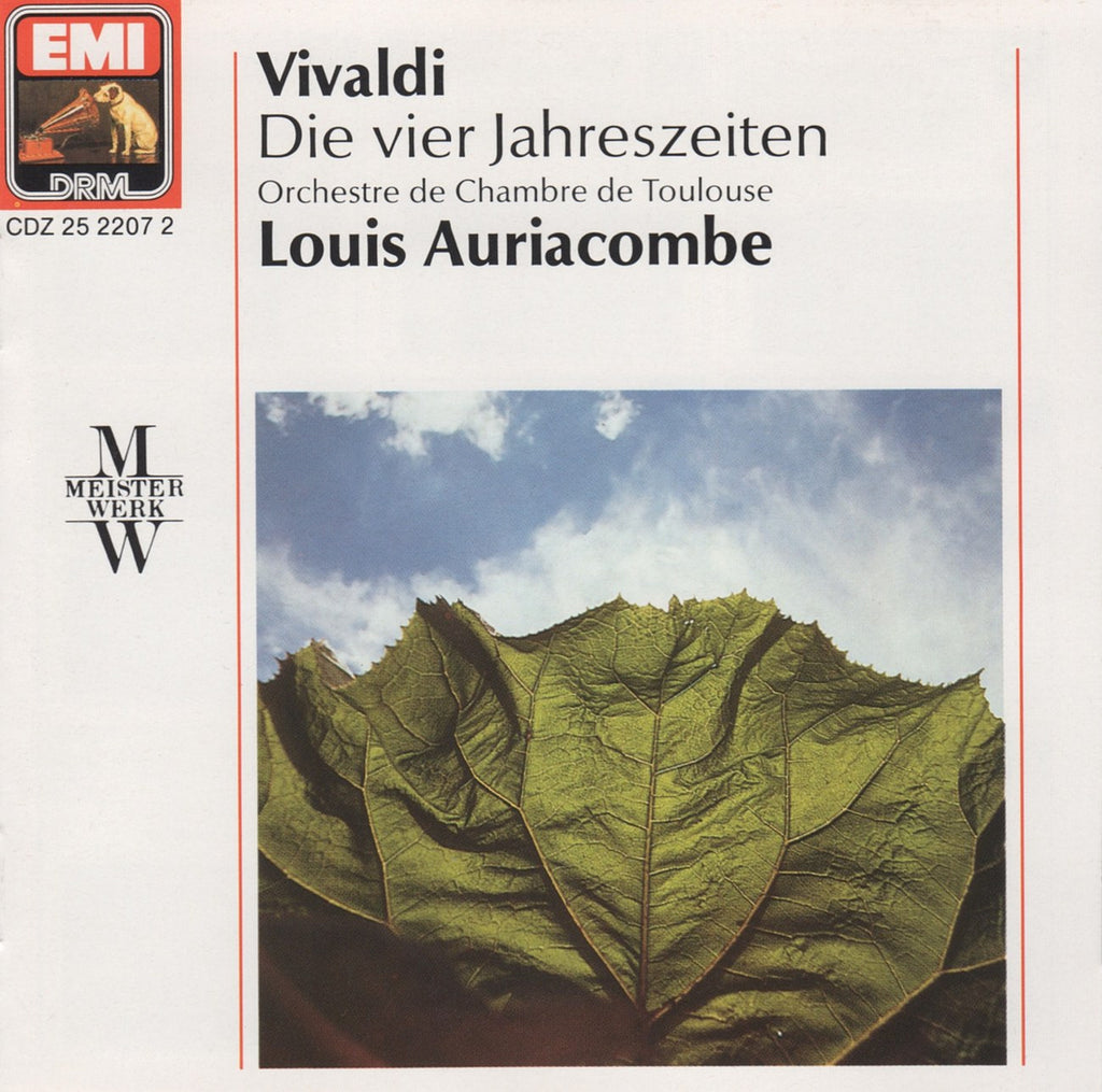 CD - Auriacombe/Toulouse CO: Vivaldi 4 Seasons - EMI CDZ 25 2207 2