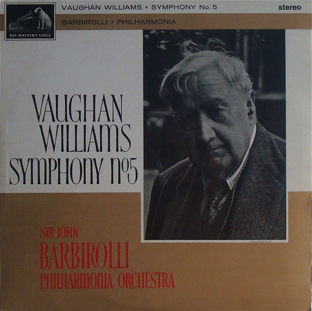 LP - Barbirolli: Vaughan Williams Symphony No. 5 - HMV ASD508