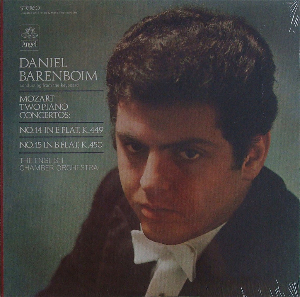 LP - Barenboim: Mozart Piano Concertos Nos. 14 & 15 - Angel S-36546 (sealed)