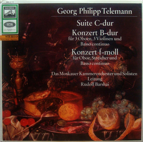 LP - Barshai/Moscow CO: Telemann Suite In C + 3 Concerti - Electrola SME 91415 (white/gold)