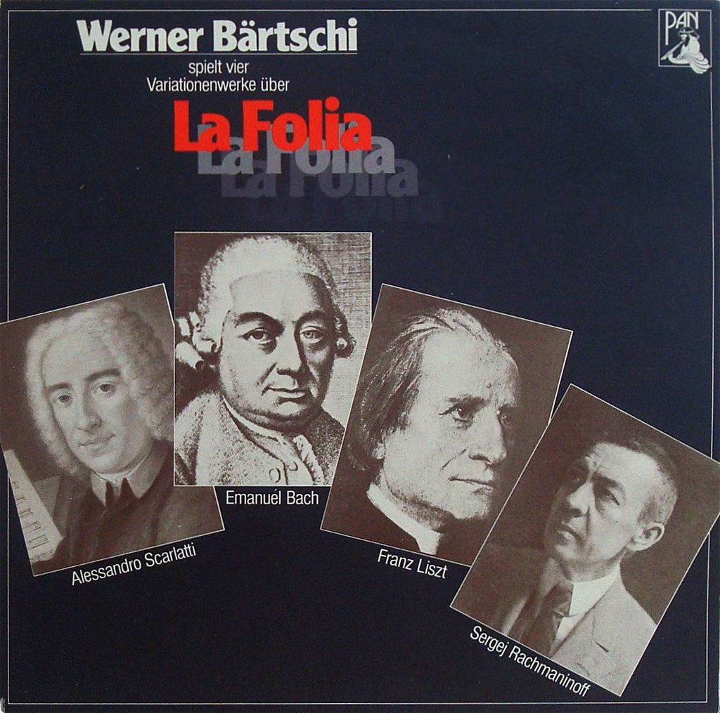 "LP - Bärtschi: Piano Variations On ""La Folia"" - PAN 130 051"
