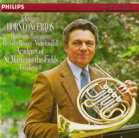CD - Baumann/Brown/ASMF: Telemann Horn Concertos - Philips 412 226-2 (DDD)
