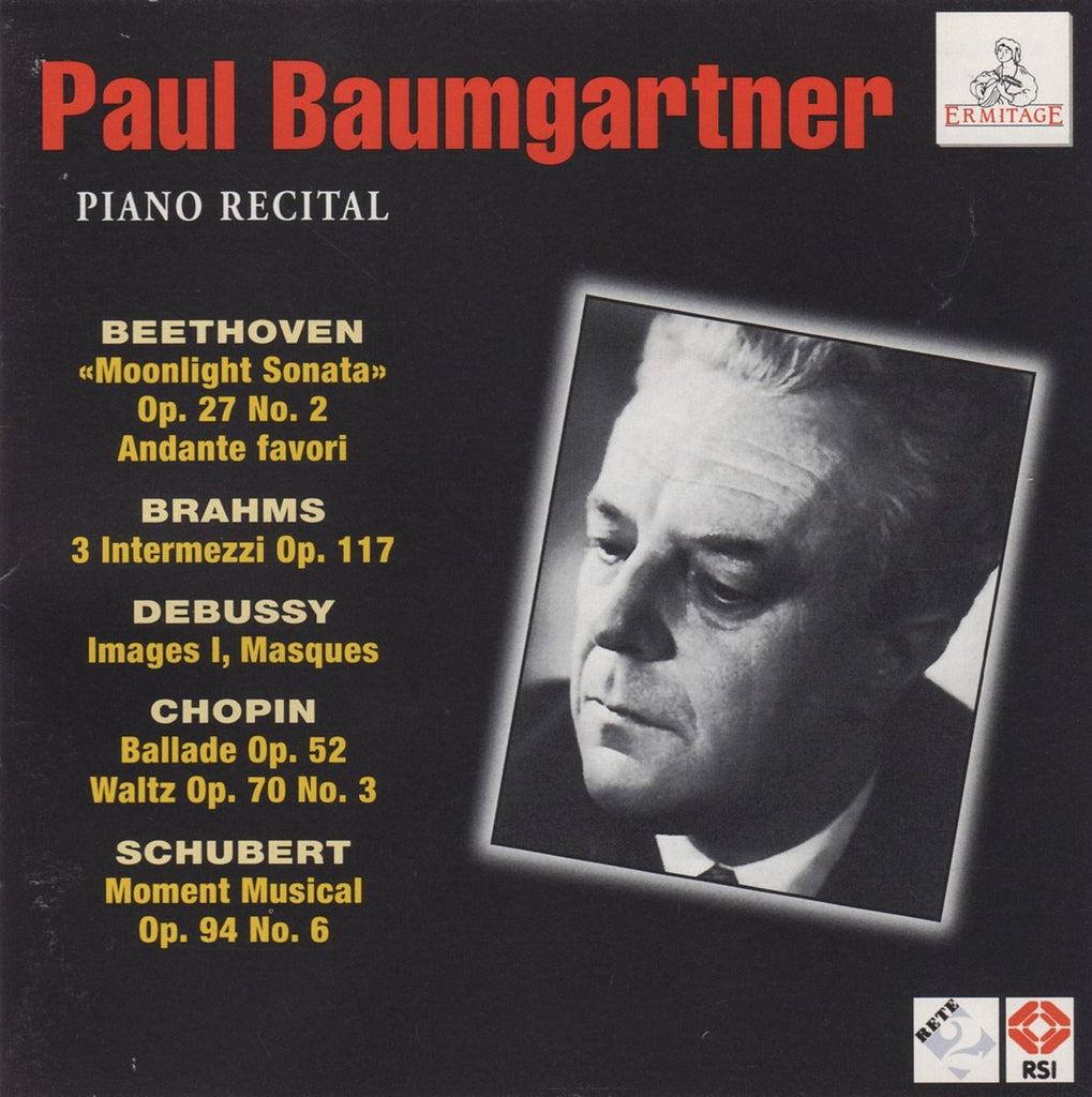 CD - Baumgartner: Piano Recital (Beethoven, Debussy, Chopin, Brahms) - Ermitage ERM 200-2