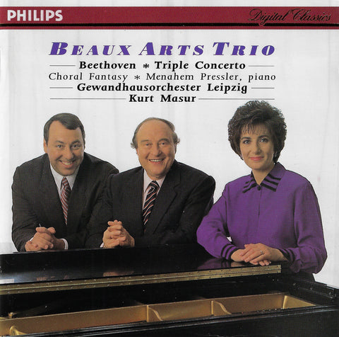 Beaux Arts Trio/Masur: Beethoven Triple Concerto, etc. - Philips 438 005-2