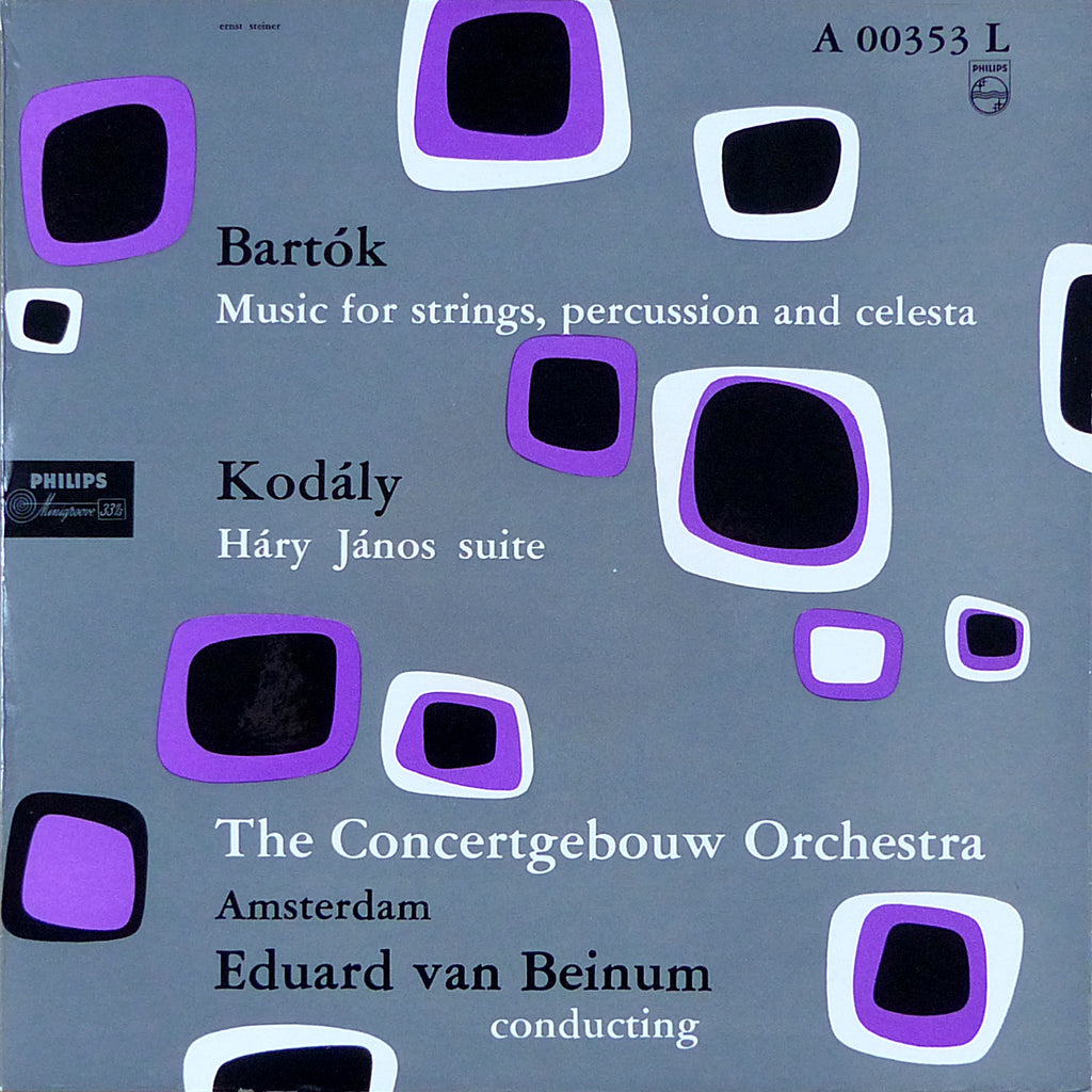 Beinum: Kodaly Hary Janos Suite + Bartok - Philips A 00353 L