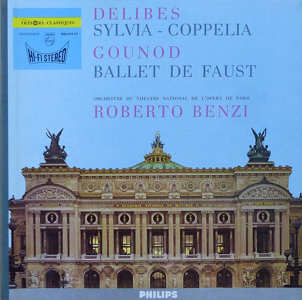 Benzi: Delibes Sylvia + Gounod Faust Ballet Music - Philips 835.214 LY