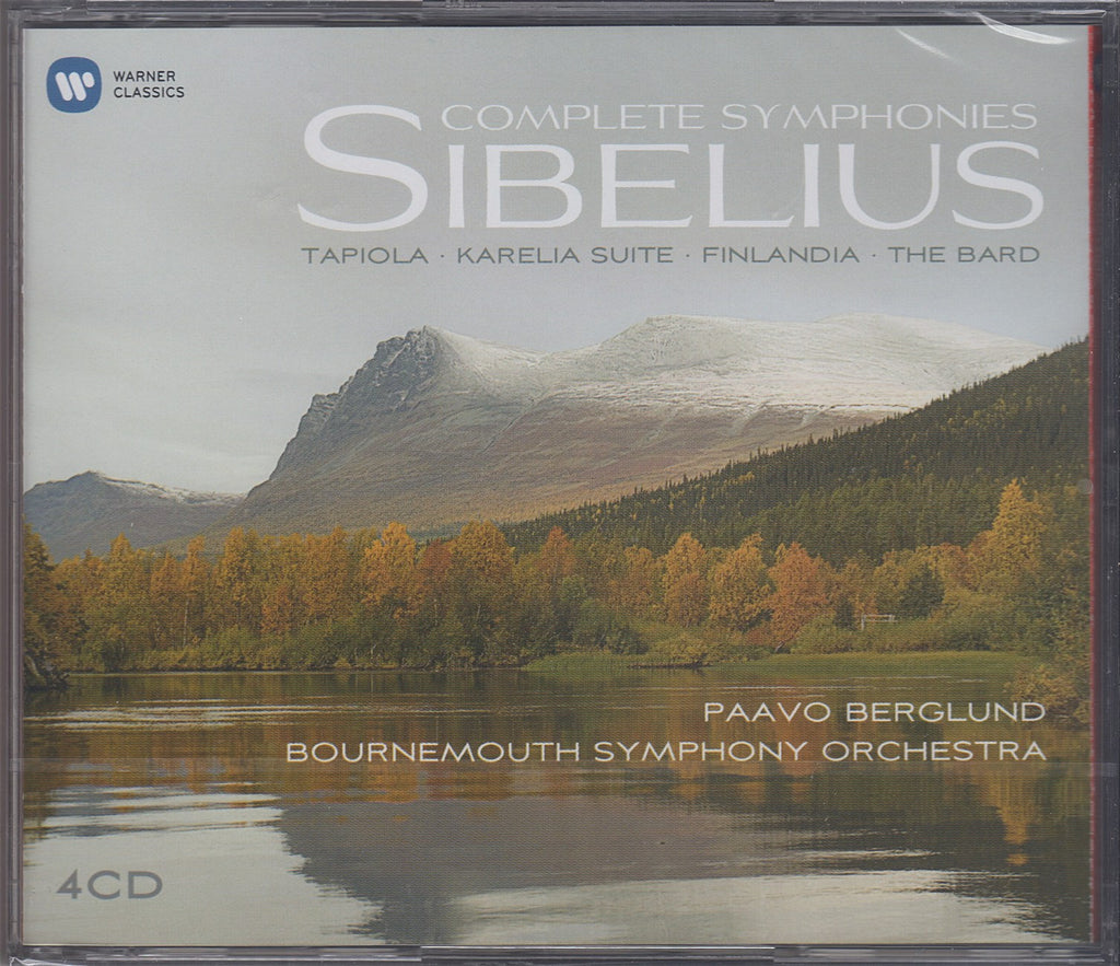 CD - Berglund: Sibelius Syms 1-7, Etc. - Warner Classics 9 73600 2 (4CD Set, Sealed)