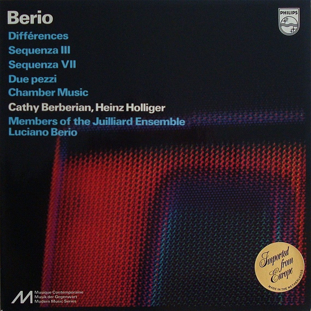 LP - Berio: Sequenza III & VII, Due Pezzi, Chamber Music, Etc. - Philips 6500 631, NM
