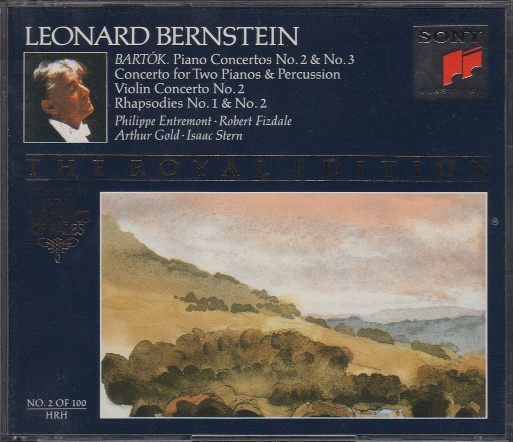 CD - Bernstein: Bartok Concertos (with Entremont, Stern, Et Al.) - Sony SM2K 47511 (2CD Set)