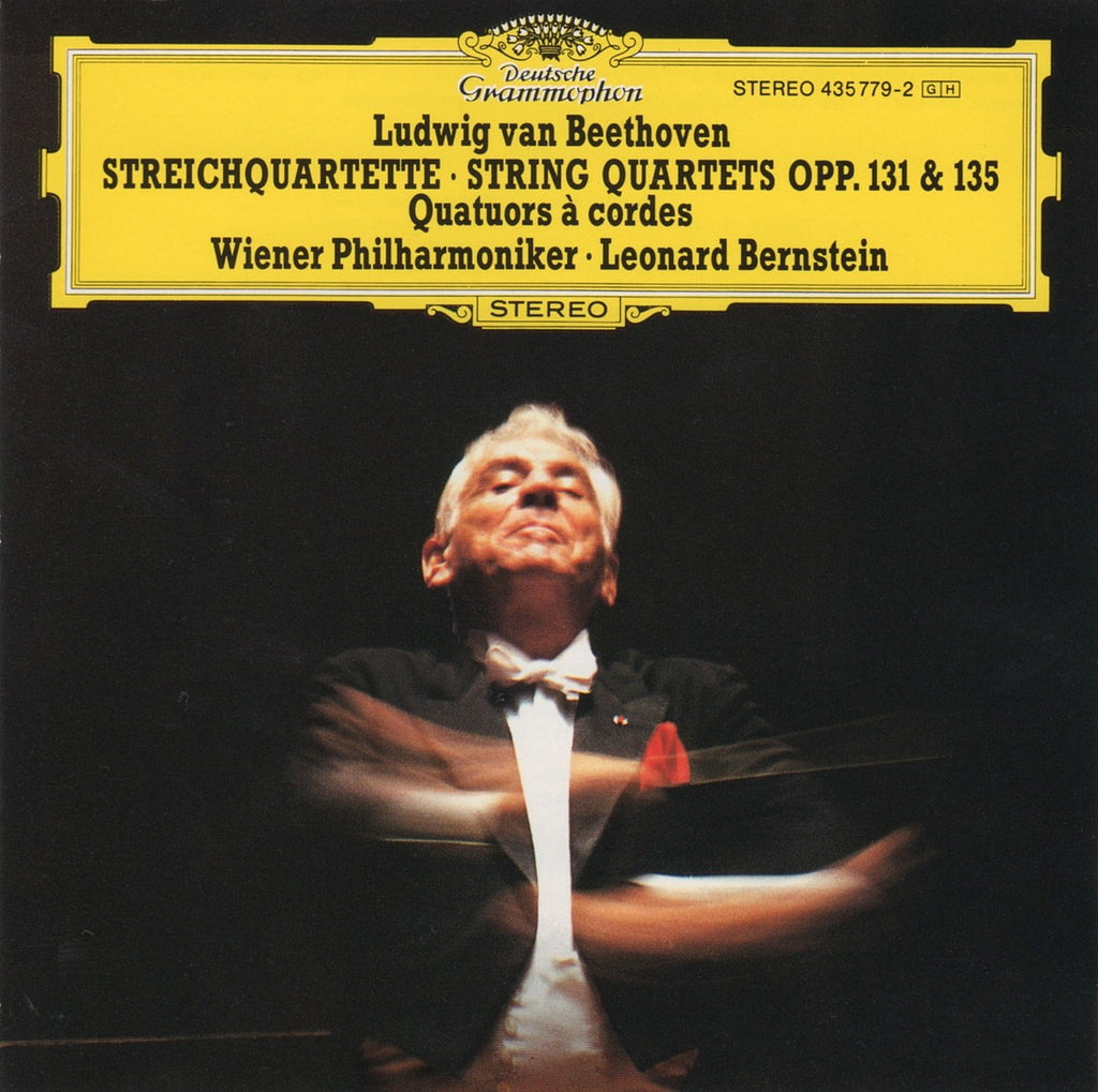 CD - Bernstein/VPO: Beethoven Quartets Opp. 131 & 135 (arr. For String Orch) - DG 435 779-2