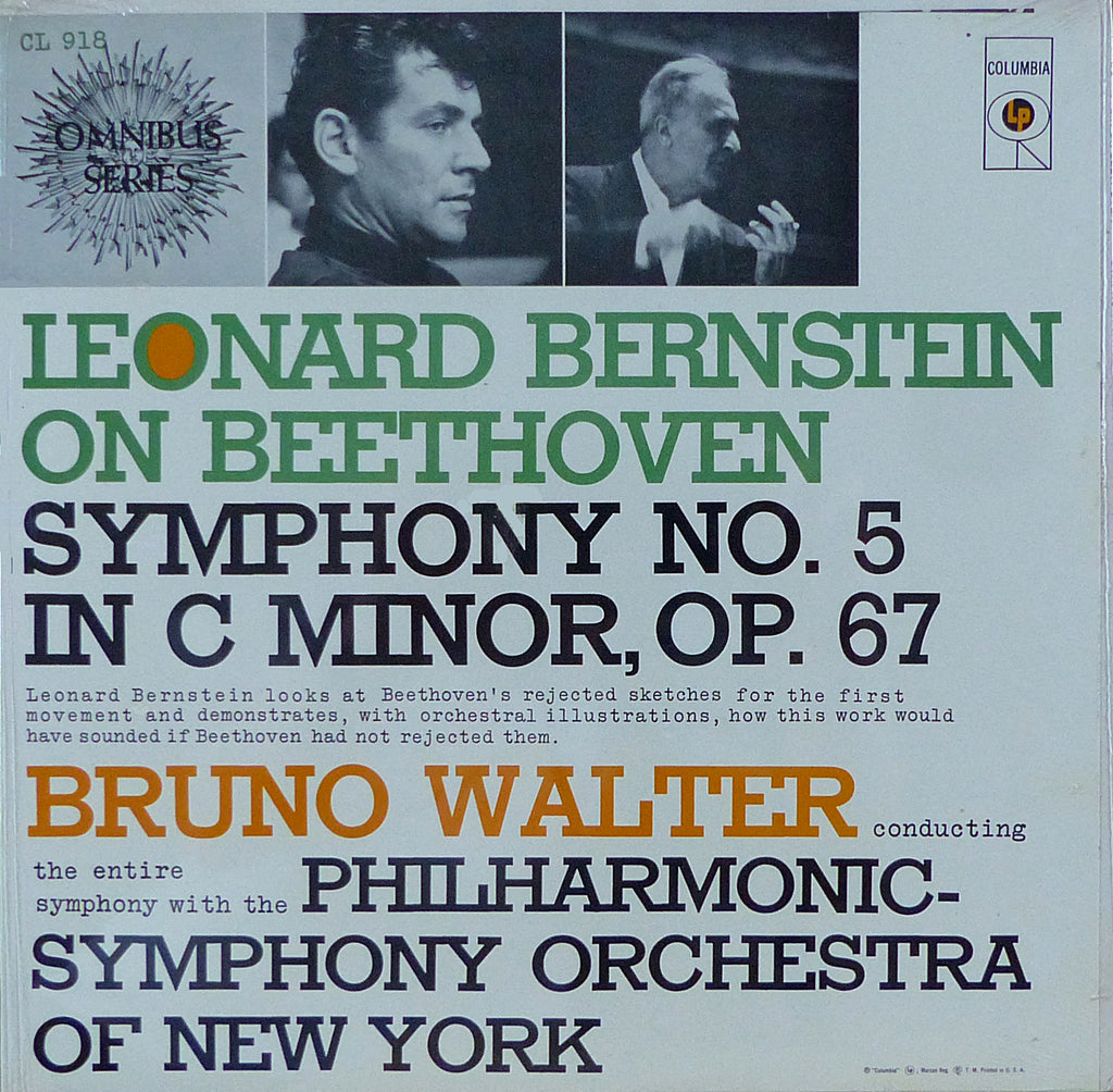 Walter: Beethoven Symphony No. 5 (+ Bernstein) - Columbia CL 918