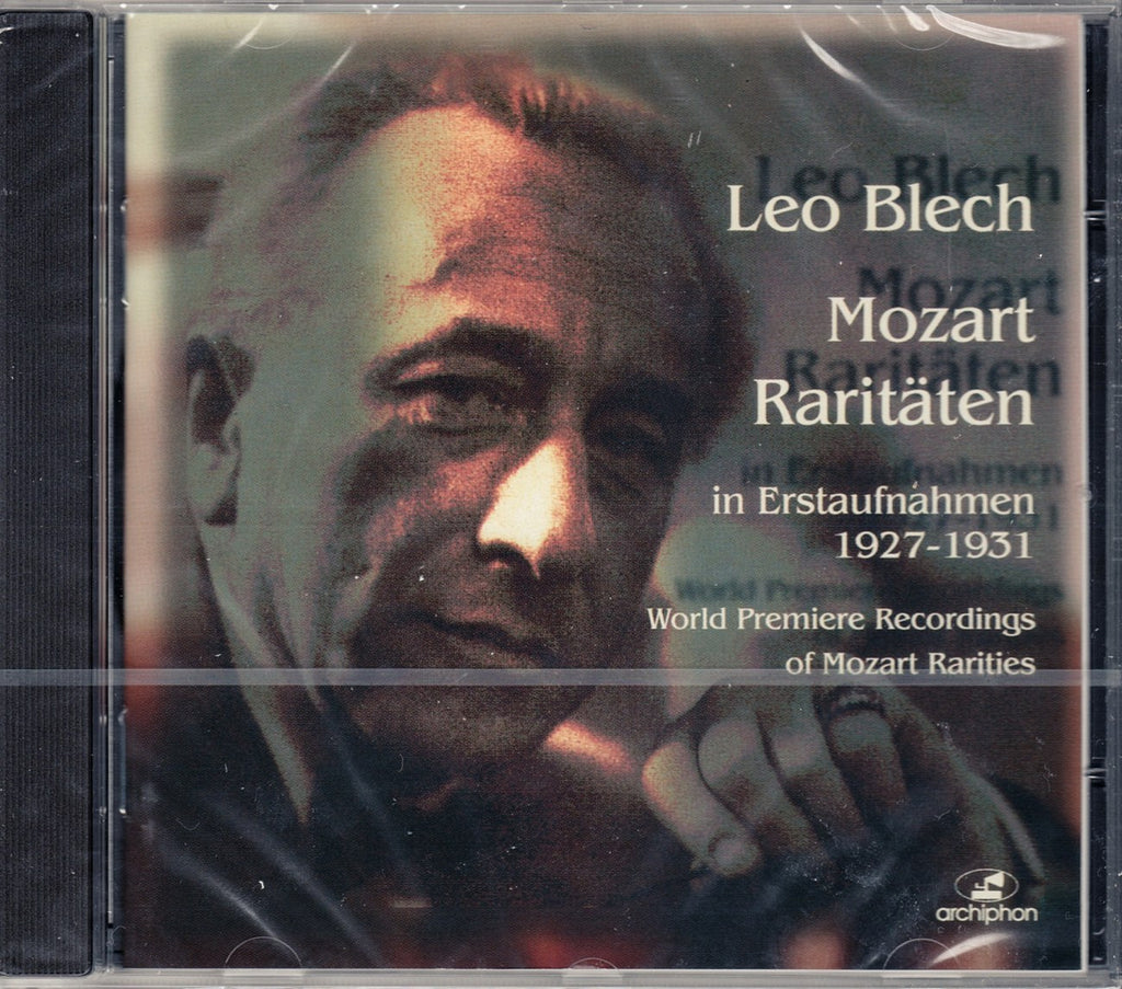 CD - Leo Blech: Mozart Rarities (recs. 1927-1931) - Archiphon ARC-135 (sealed)
