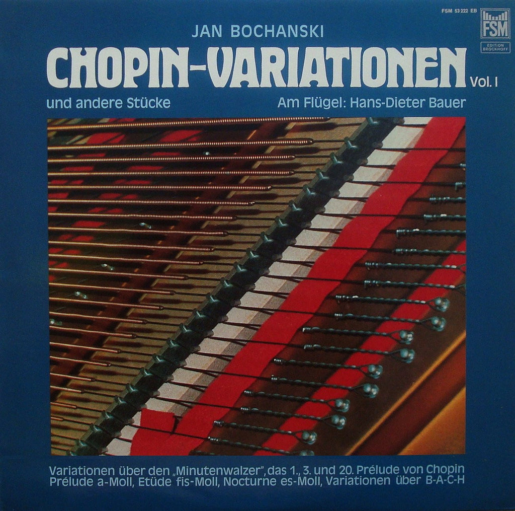 LP - Bauer: Bochanski Chopin Variations Vol. I - FSM 53222 EB