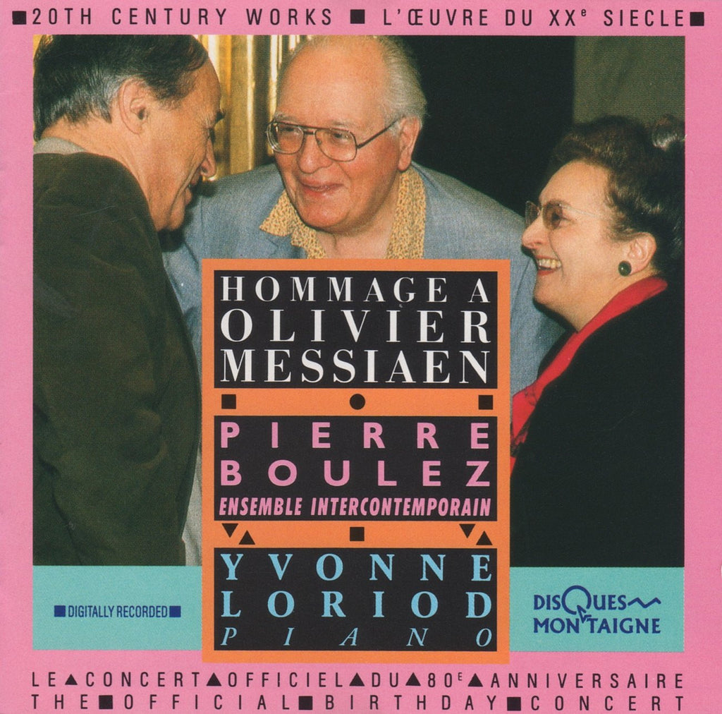 CD - Boulez: Hommage A Messiaen (with Y. Loriod) - Disques Montaigne WM 332