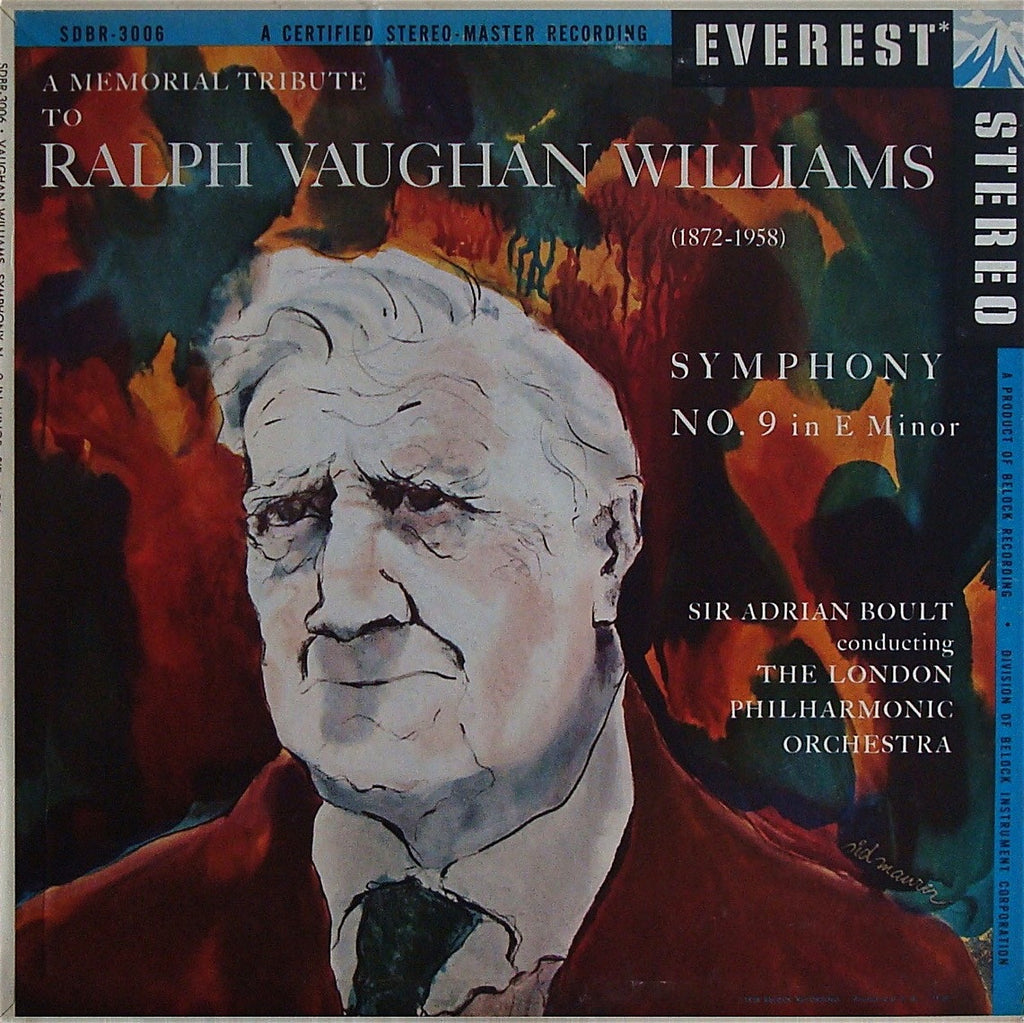LP - Boult/LPO: Vaughan Williams Symphony No. 9 - Everest SDBR-3006