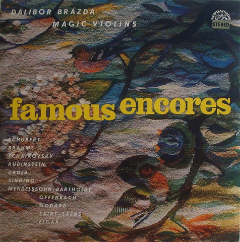 LP - Brázda: Magic Violins - Famous Encores - Supraphon SUA ST 51567