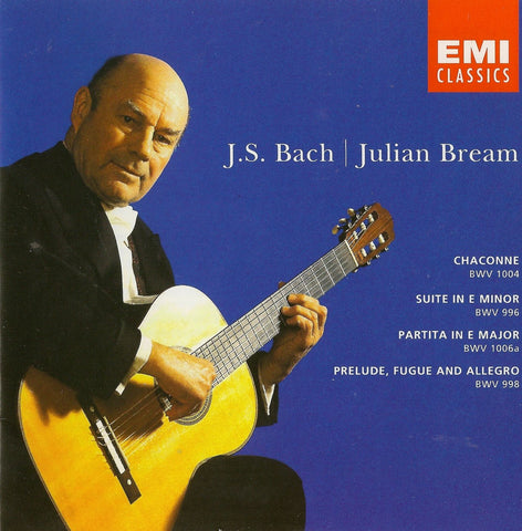 CD - Bream Plays Bach: Chaconne BWV 1004, Suite BWV 996, Etc. - EMI CDC 555123 (DDD)