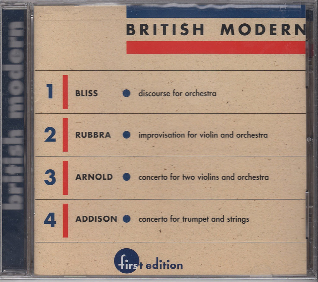 CD - British Modern Vol. 1: Arnold, Rubbra, Bliss, Et Al. - First Edition FECD-1904 (sealed)