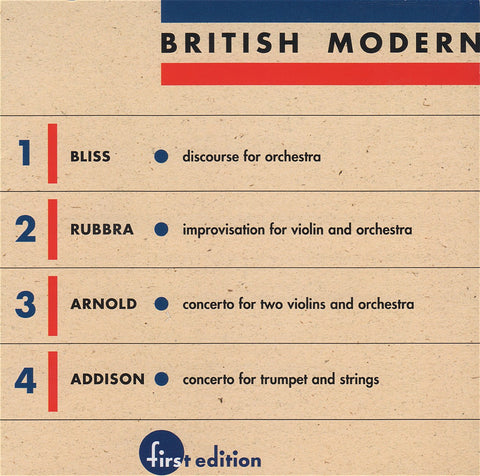 CD - British Modern Vol. 1: Arnold, Rubbra, Bliss, Et Al. - First Edition FECD-1904