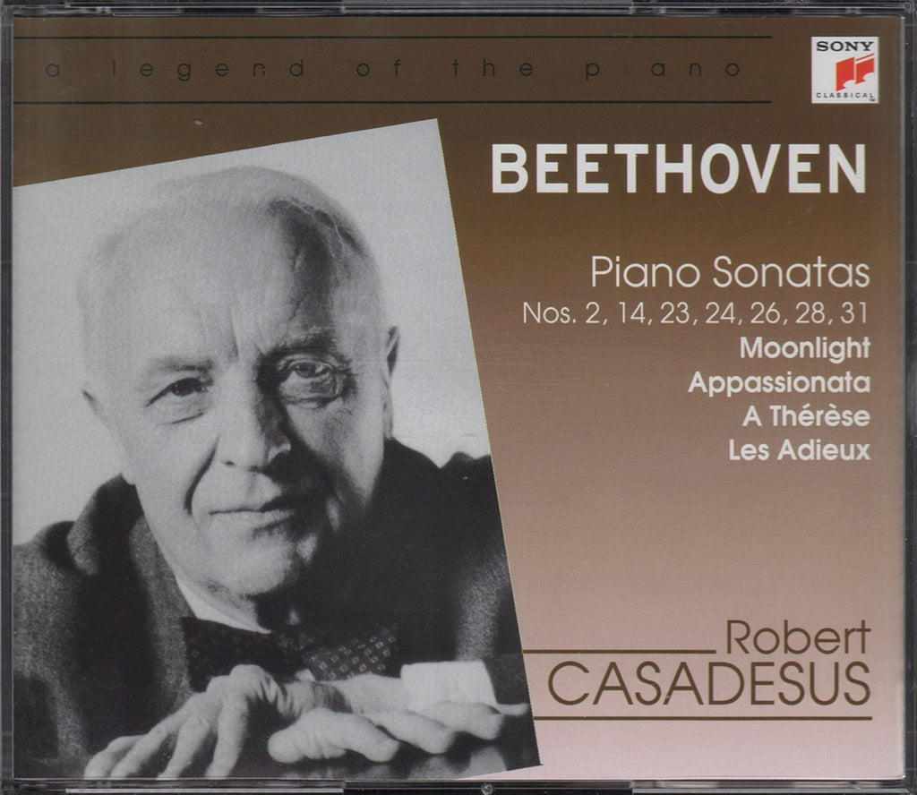 CD - Casadesus: Beethoven Piano Sonatas Nos. 2/14/23/24/26/28/31 - Sony 5033932 (2CD Set)