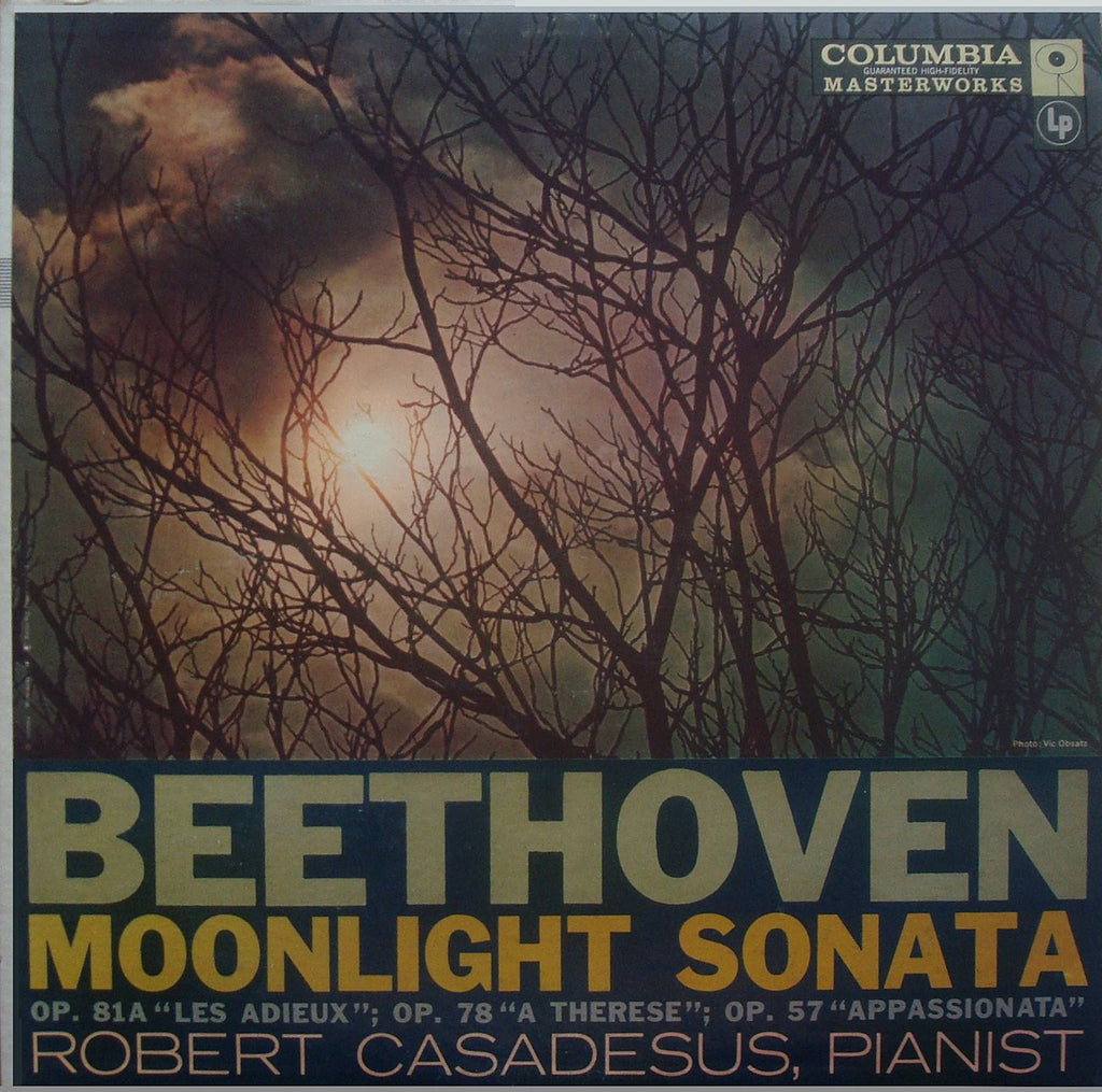 LP - Casadesus: Moonlight, Appassionata, Les Adieux Piano Sonatas - Columbia ML 5233