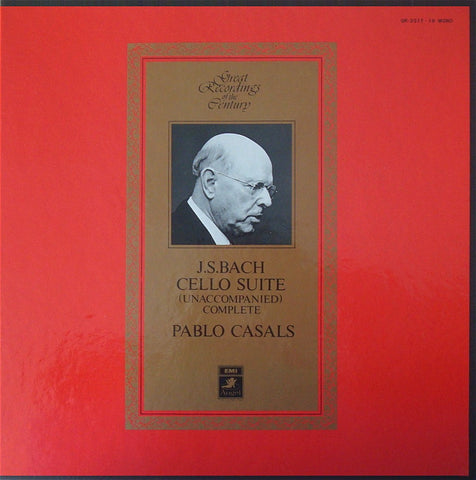 LP - Casals: Bach 6 Cello Suites - Angel Records Japan GR-2317-19 (3LP Box Set)