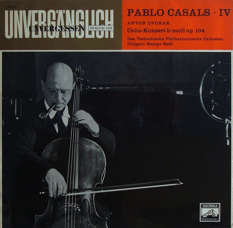 LP - Casals/Szell: Dvorak Cello Concerto In B Minor Op. 104 (r. 1937) - Electrola E 80614