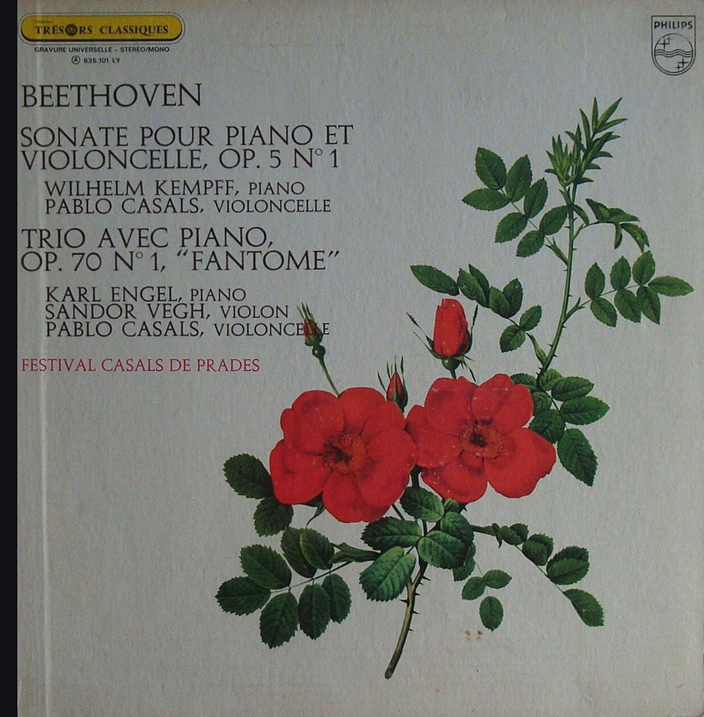 "LP - Casals: Beethoven Sonata Op. 5/1 + Piano Trio Op. 70/1 ""Ghost"" - Philips 835.101 LY"
