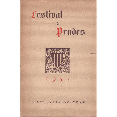 Casals: 1955 Prades Festival - original concert program / booklet