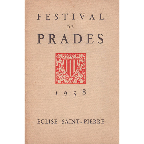 Casals: 1958 Prades Festival concert program / booklet