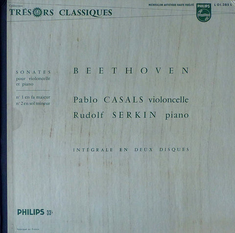 Casals/Serkin: Beethoven Cello Sons 1-5: Philips L 01.285/6 L (2 LPs)
