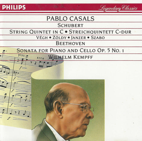 Casals et al: Schubert Quintet D. 956, etc. - Philips 420 077-2