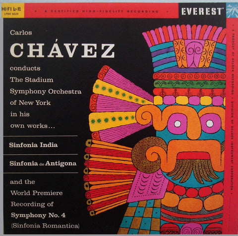 LP - Chavez: Sinfonias India, De Antigona And Romantica - Everest LPBR 6029 - Superb!