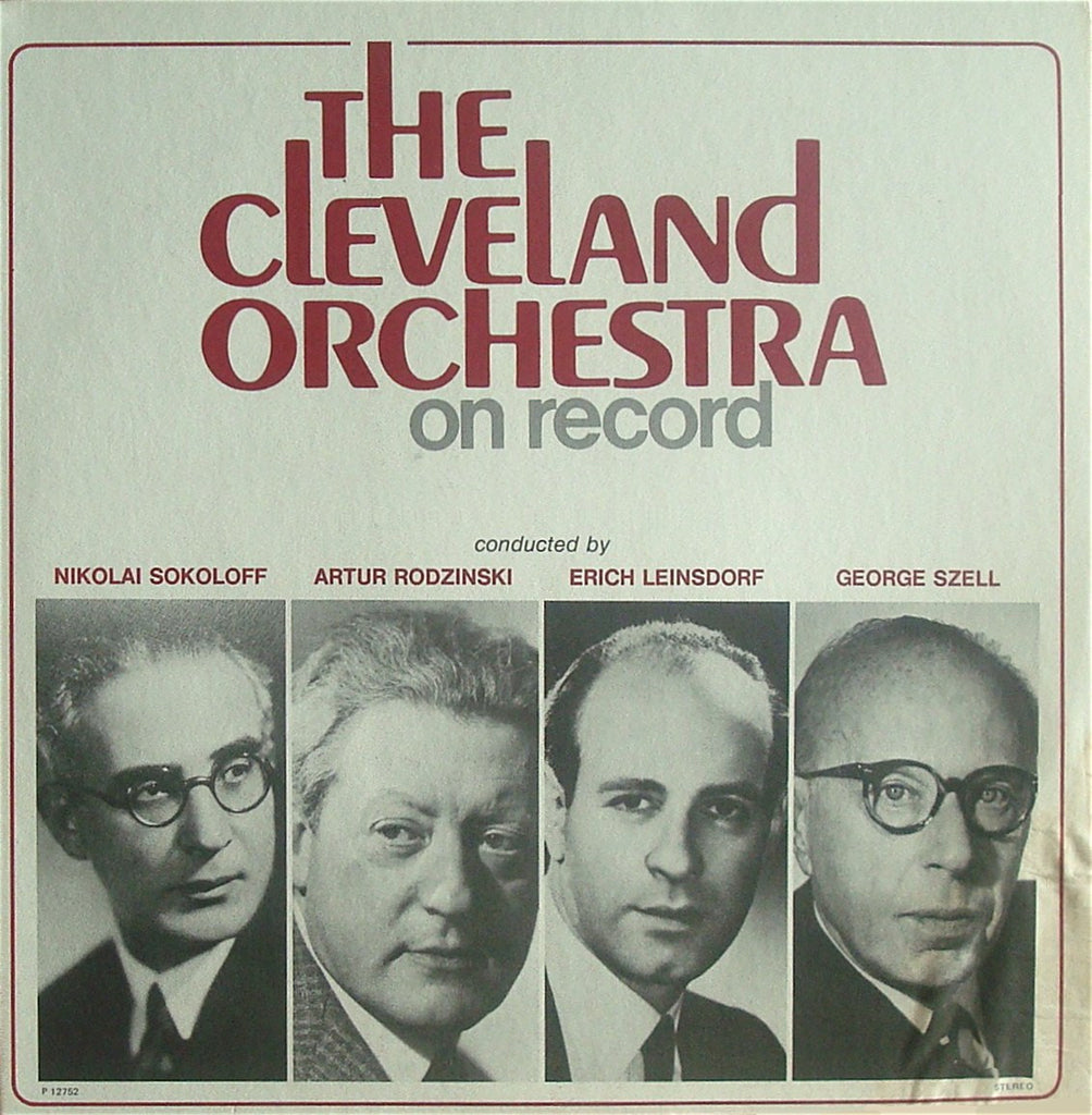 LP - Cleveland Orchestra On Record: Historical Recordings - CBS Records CSP 12752