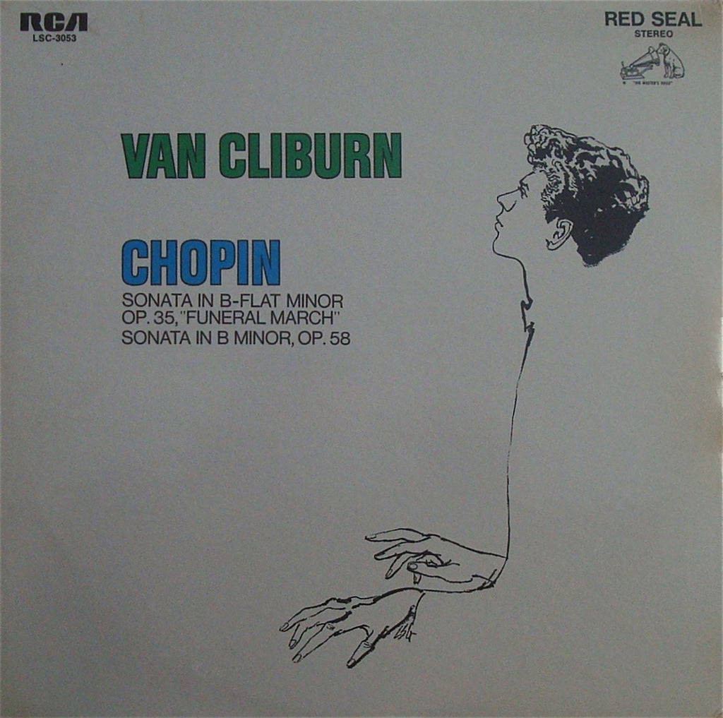 LP - Cliburn: Chopin Piano Sonatas Nos. 2 & 3 - RCA LSC-3053 (sealed)