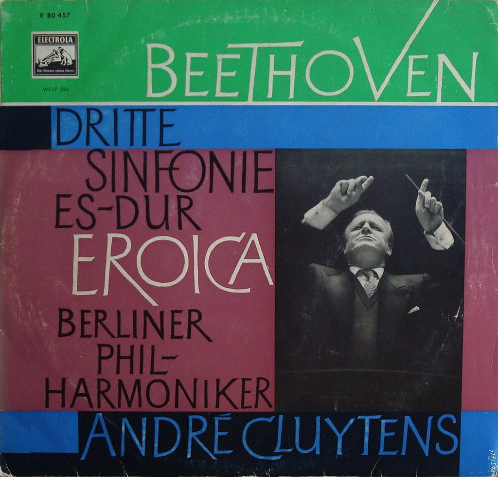 "LP - Cluytens/BPO: Beethoven Symphony No. 3 Op. 55 ""Eroica"" - Electrola WCLP 586"