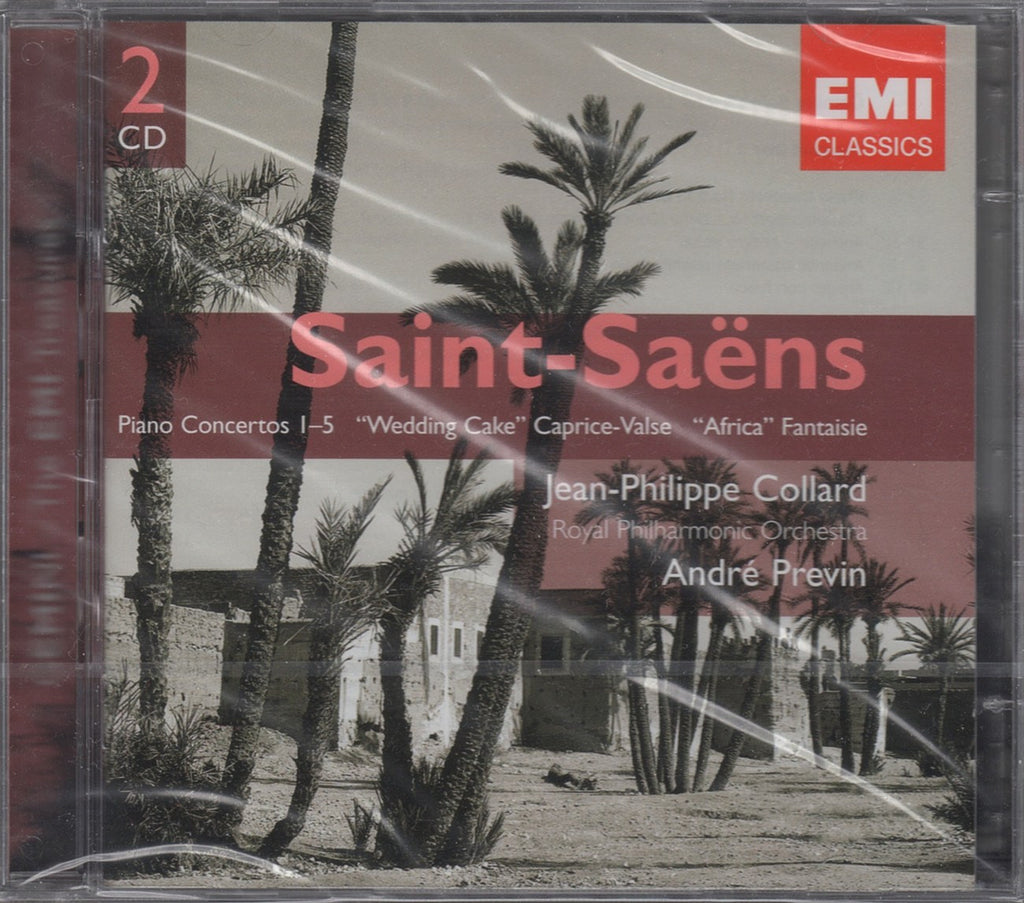 CD - Collard: Saint-Saëns Compl. Piano Concertos - EMI 7243 86245 2 6 (2CD Set, DDD, Sealed)